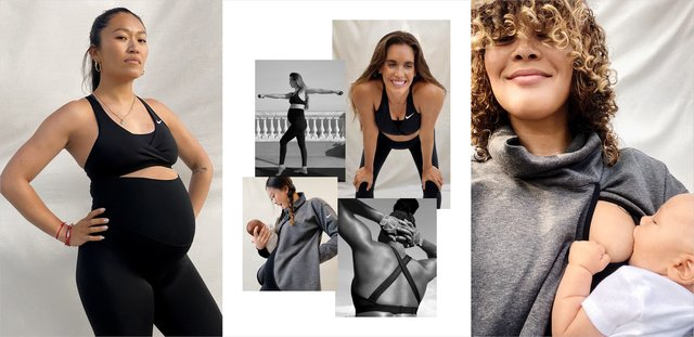 The sports brand's maternity collection is part of its 'Nike (M)' campaign.