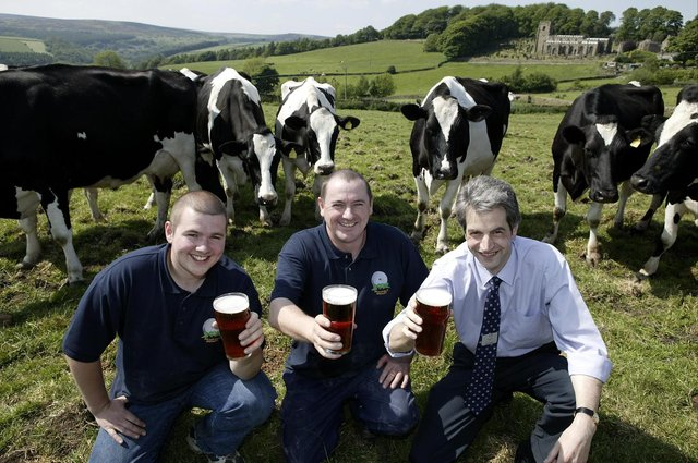 Who can you spot having a pint in the Peak District in these throwback pictures?