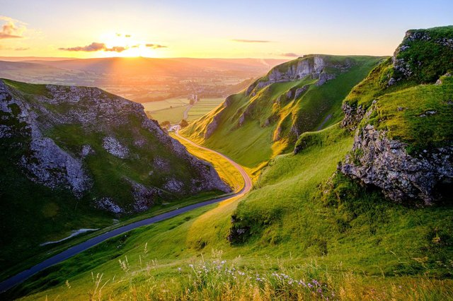 Derbyshire has some stunning scenic drives, like this road through Winnat's Pass - but how far can you travel now restrictions are easing?