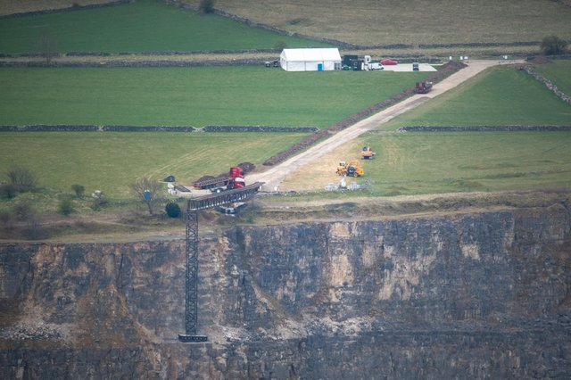 Villager Jim's picture of the dramatic goings-on at Darlton Quarry.