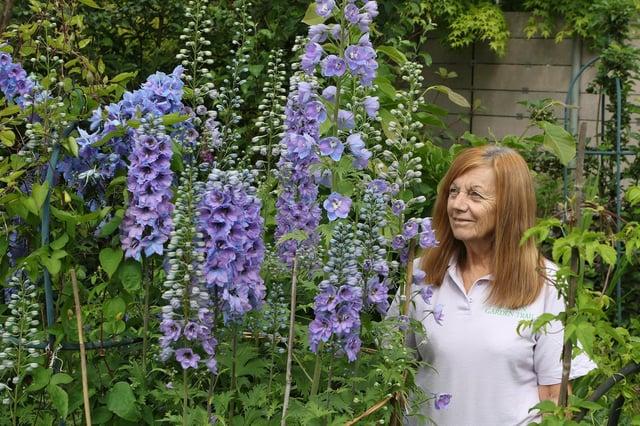 Open Gardens coordinator Jo Holdway in her own garden