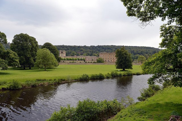 Police fined a group who gathered at Chatsworth House for a barbecue.