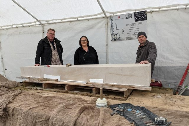 From left,  TFW boss Andy Oldfield, apprentice Carrie Oldfield, master craftsman Paul Froggatt