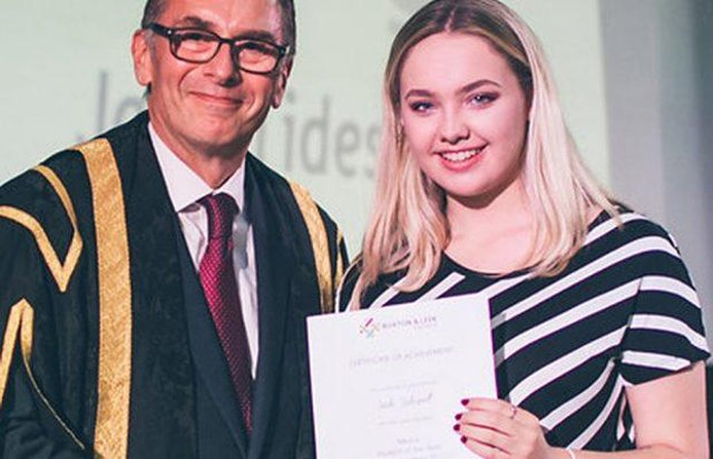 Jade Tideswell studied media at Buxton and Leek College.