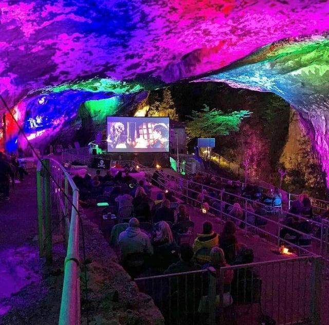 The Village Screen pop-up cinema is set to return to Peak Cavern over three weekends in June 2021