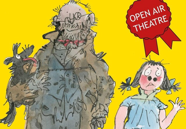 Mr Stink will be performed outdoors at Whitworth Institute, Darley Dale and the Botanical Gardens, Sheffield. Image courtesy of AP Watt at United Agents on behalf of Quentin Blake