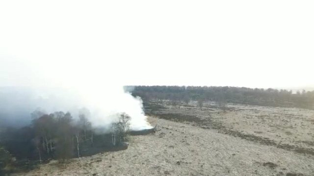 Drone footage showed the moorland fire near Baslow. Image: Derbyshire Fire and Rescue Service