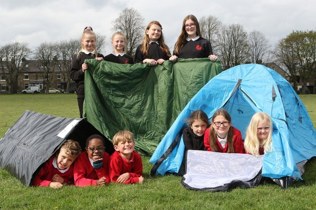 Buxton Junior School pupils preparing for their charity camp out
