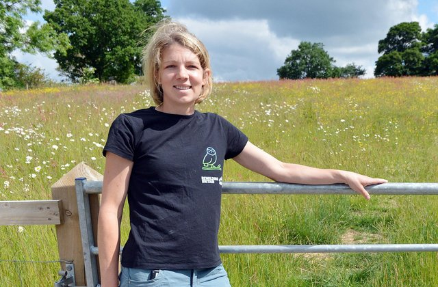 Rachel Evatt at Sunart Farm in Whaley Bridge. She and her husband are letting their land go back to nature by planting more hedgerows increasing bioversity and eco climates as a new way of farming.