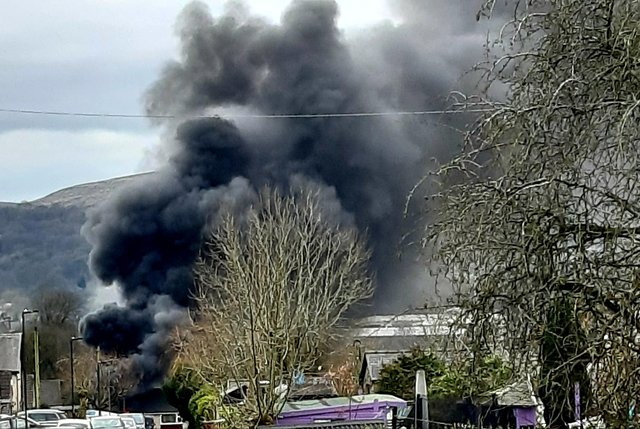 Dave Homer captured this photo of the fire from Ladycroft.