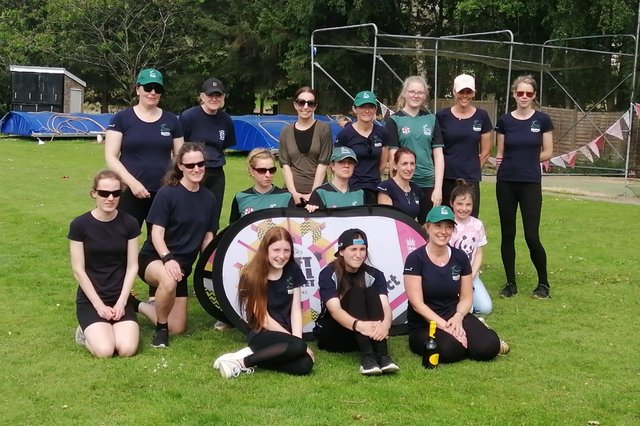 The victorious Buxton Belters squad at the Charlesworth Softball Cricket Festival.