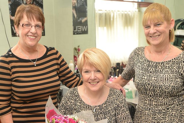 In 2014 retiring Chapel hair dresser Kathy Byatte was with Jill Ridgway and Linda Ellis who worked for her for most of her thirty four years in business
