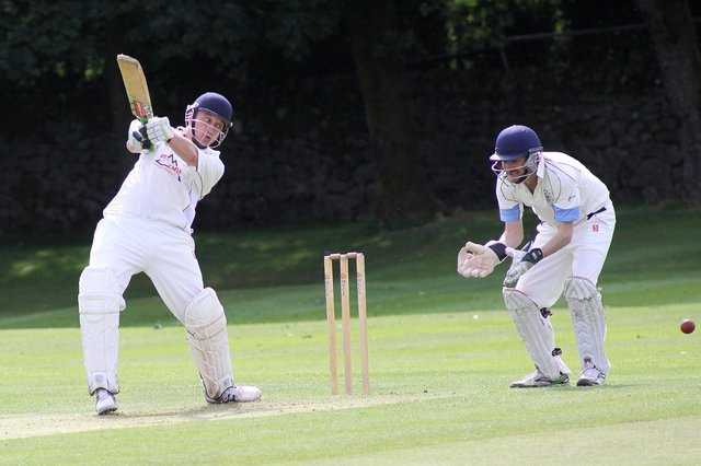 Adam Critchlow scored a fine century for Dove Holes on Saturday.