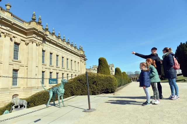 There is lots for families to see and enjoy in the gardens at Chatsworth.