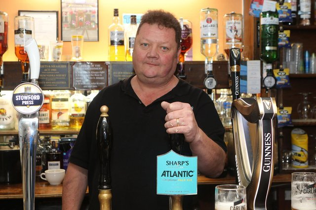Jason Waplington is glad to be back pouring pints after being shut for months