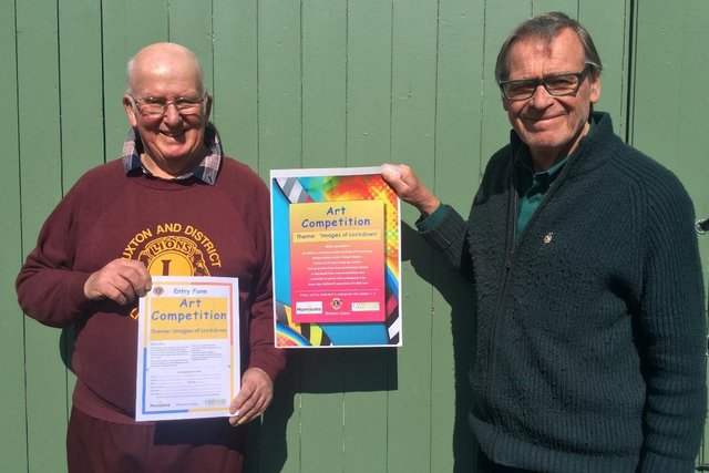 Nick Townsend and David Brindley, organisers of the Buxton Lions art competition