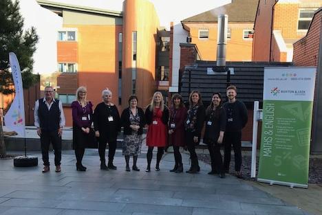 The award-winning Buxton & Leek College maths and English GCSE team.