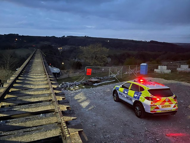 Police in Derbyshire were called to the Mission Impossible 7 set last night (picture: Derbyshire Dales Response Unit)