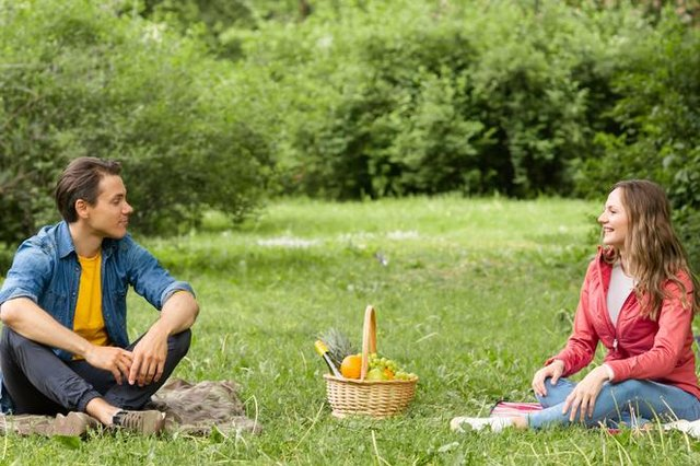 Picnics for two friends outdoors are now allowed. Photo: Shutterstock/Maksim Shmelijov