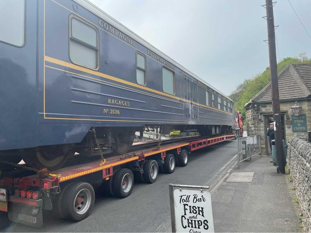Pete Grafton, owner ofToll Bar Fish and Chips, sent us this picture of the train arriving in Stoney Middleton.