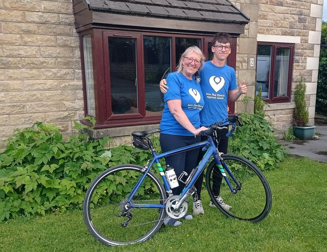 Annie Diamond and her son Ed are fundraising for new cancer centre which will ease the lives of patients in High Peak.