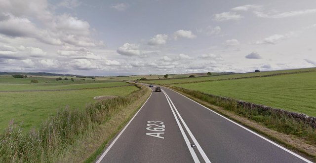 The A623 near Tideswell is currently closed due to a serious crash (picture: Google)