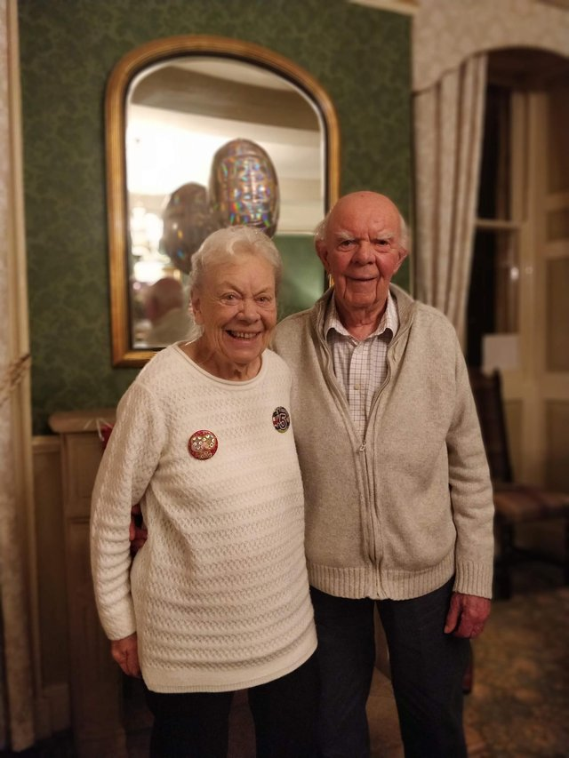 June and Alan Ayling celebrate 70 years of marriage on April 3