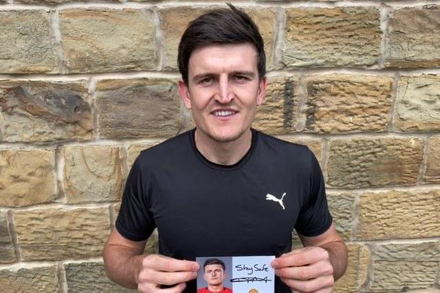 England and Manchester United footballer Harry Maguire is urging people to stay safe during the coronavirus pandemic