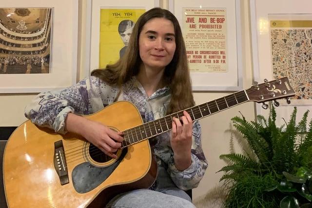 New Mills School's rising star Isla Hutchins.