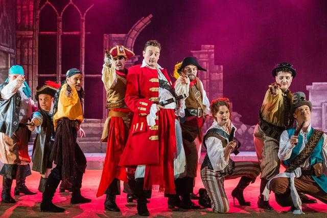 The National Gilbert & Sullivan Opera Company dress rehearsal of The Pirates of Penzance at Buxton Opera House in 2019. (Photo: Jane Stokes)