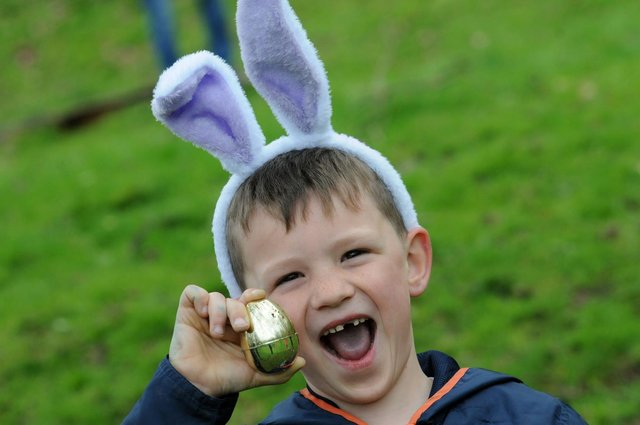 April 3 could be a lucky day for young egg hunters.