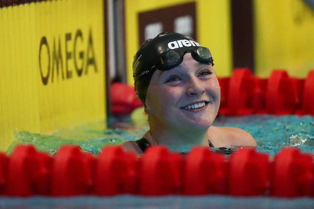 Abbie Wood impresed in the Women's 200m Individual Medley Final at the Manchester International Swimming Meet 2021. (Photo by Clive Rose/Getty Images)