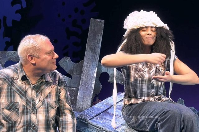 Ivan Stott and April Nerissa Hudson in Little Miss Muffett