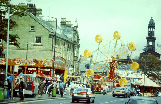 Buxton carnival funfair in 1991