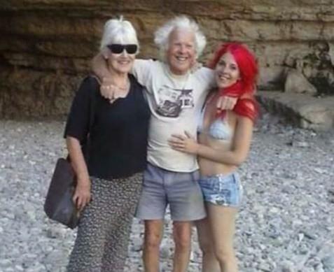 Naima with foster parents Robert and Rachel Higham