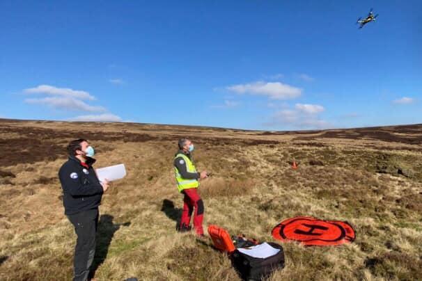 Drone training for Buxton Mountain Rescue Team