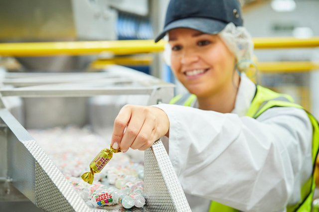 Swizzels Matlow Limited has will placed 5 golden wrapped Love Hearts into bags for a chance to win a factory visit