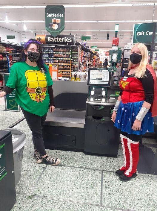 Staff at Morrisons in Buxton held a superhero themed fundraising weekend in support of Young Lives vs Cancer