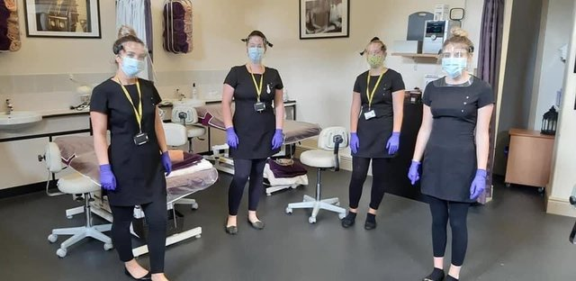 Beauty Therapy learners at Buxton & Leek College are offering complimentary services to NHS workers at the Devonshire Dome Salon