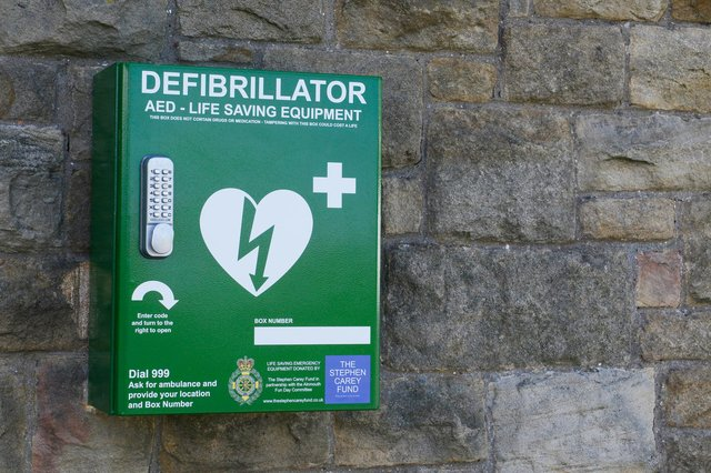 A defibrillator could make the difference between life and death in the vital first minutes after someone goes into cardiac arrest.