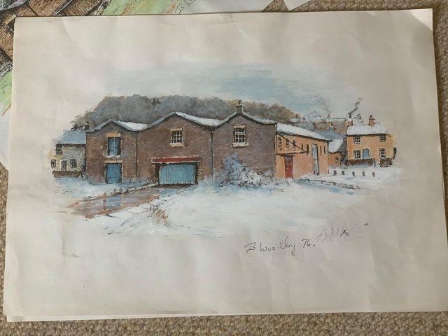 One of the sketches made by Brian Woolley back in the 1970s