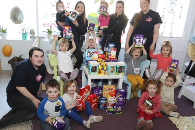 Easter egg collection for Stepping Hill Hospital at Little Jules Childcare