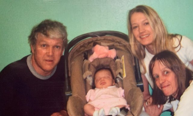Alan pictured with his family.