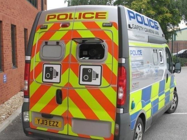 Police speed camera van