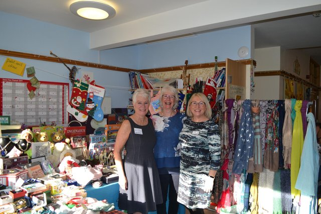 Alex Clark from Buxton (right), with mum, Brenda (middle) and auntie, Hilary (left) who are hospice volunteers