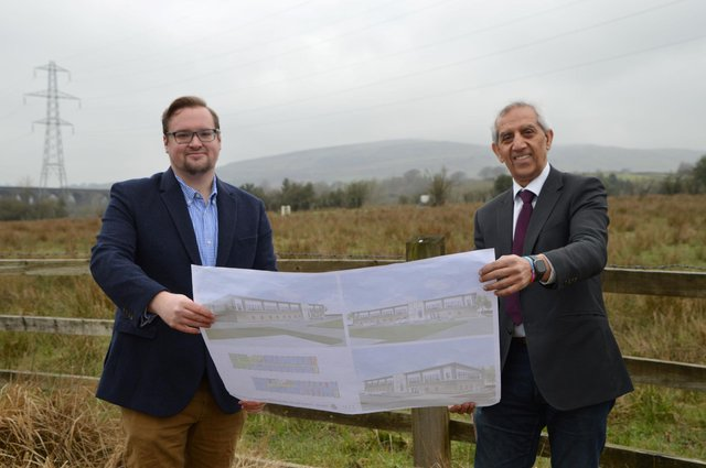 Police and Crime Commissioner Hardyal Dhindsa with Councillor Damien Greenhalgh, Deputy Leader of High Peak Borough Council