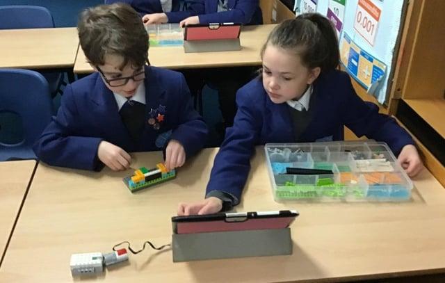 Pupils at Fairfield Endowed Junior School enjoyed a robotics session as part of British Science Week
