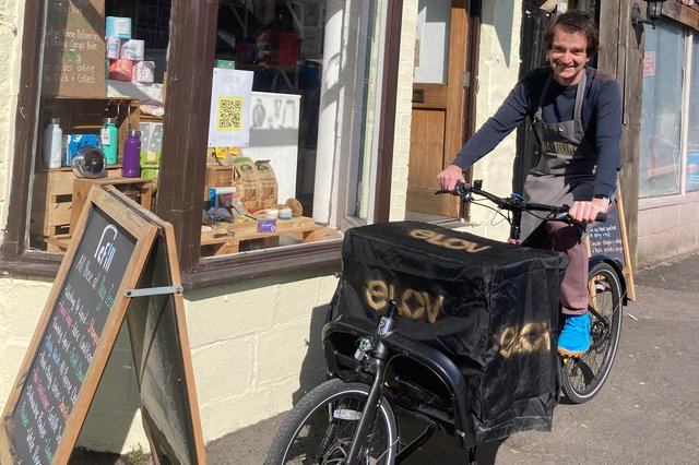 Day Zero owner Mark Day with his new electric cargo bike.