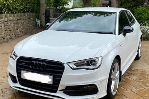 A white Audi A3 S Line TDI Quattro was stolen between 9.15pm on March 29 and 6.10am on March 30 after a house in Manchester Road, Chapel-en-le-Frith was broken into.