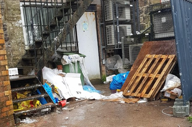 Much of the waste is located on private property, meaning the council has limited powers to intervene.
